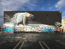 Sonny Street Art Polar Bear Mural for Basel House Mural Festival