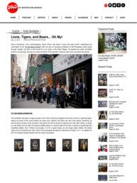 Sold Magazine article about Sonny's To The Bone exhibition and mural tour