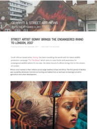 Graffiti Street Article on Sonny's Mural in Croydon, London