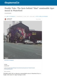 The Journal Ireland article about Sonny's tiger mural painted for Waterford Walls