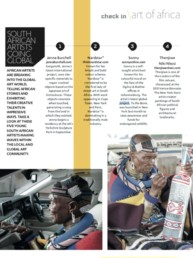 Place Magazine Article about 'South African Artists Going Global' featuring Sonny