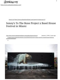 Urbanite Webzine article on Sonny's Polar Bear Mural at Basel House Festival in Miami