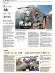 The Times article about Sonny and his mural of David Ogilvy painted for Ogilvy & Mather Johannesburg