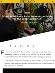 Trendland reports on Sonny's To The Bone exhibition