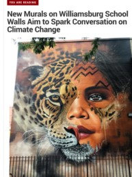 Greenpoint Post Article on Sonny's Climate Week Mural in Brooklyn, NY