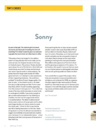 Street And More Magazine Sonny Feature